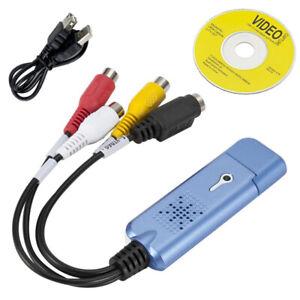 Convertitore Adattatore Digitale Audio con Video Grabber USB2.0Per Win7 NTSC Pal