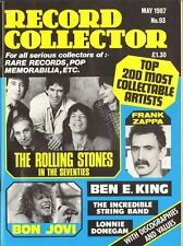 RECORD COLLECTOR 93 Rolling Stones FRANK ZAPPA Incredible String Band BON JOVI