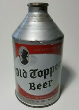 """Rare Htf Vtg Old Topper Beer Cone Crowntainer Can Rochester Ny """"Tops in Taste"""""""