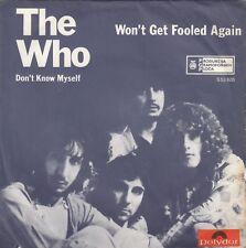 "THE WHO WON'T GET FOOLED AGAIN RARE UNIQUE LABEL 1971 RECORD YUGOSLAVIA 7"" PS"