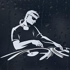 DJ Plays Vinyl Car Decal Vinyl Sticker For Window Panel Or Bumper