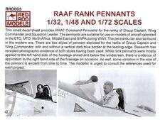 1/72, 1/48, 1/32 RAAF Aircraft Command Rank Pennants