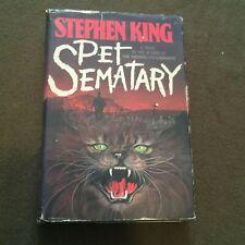 Pet Sematray by Stephen King Hardback Book 1983 1st Edition 1st Printing