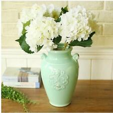 Artificial Hydrangea Rose Silk Peonies Flower Stem Wedding Home Decor White
