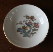 Wedgwood Bone China Kutani Crane Small Round Trinket Dish/Tray