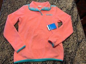 Columbia PFG Womens XS 1/4 Harborside Plaid Overlay Pullover Fleece Jacket Shirt