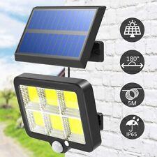 150 LED Solar Powered PIR Motion Sensor Garden Wall Light Security Flood Outdoor