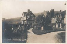 Postcard - Entrance to Stokesay Castle Shropshire posted 1932