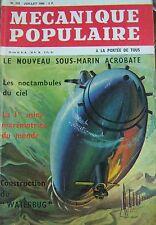 REVUE MECANIQUE POPULAIRE N° 218 SOUS MARIN SPATIOVISION LE WATERBUG 1963