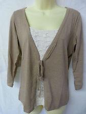 Per Una Women's 3/4 Sleeve Sleeve V Neck Waist Length Tops & Shirts