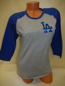 "0921 WOMENS Ladies LOS ANGELES DODGERS ""3/4 Sleeve"" Baseball Jersey Shirt NEW"