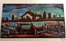 """Georges Rouault THE FUNERAL 1952 Color Tipped-In Art Print Expressionism 5.5x10"""""""