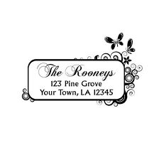UNMOUNTED PERSONALIZED SELF RETURN ADDRESS RUBBER STAMP R260