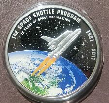 2012 Cook Islands $1 SPACE SHUTTLE coin! Only 981! 30 Years Space Exploration!