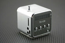 Silver Cube fad design portable radio small audio MP3 Walkman music player BDAU