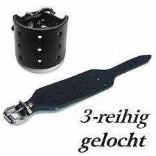 Leder Armband ! gelocht 3-R Lederarmband / Larp Biker