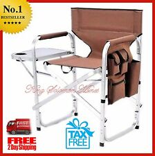 Oversized Camping Lounge Big Director Chair Outdoor Folding Portable Heavy Duty