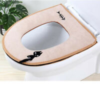 Bathroom Warmer Toilet Seats Closestool Washable Soft Seat Cover Pad Cushion G