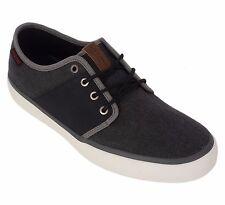 Jack & Jones Mens UK 7 EU 41 Anthracite Turbo Canvas Sneaker Trainers New Shoes