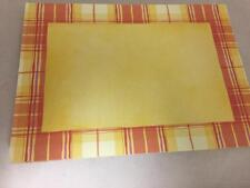 Plaid Red Yellow 5 Card Pack Set (s) 5x7 Scrapbooking Crafts