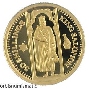 2003 SOMALIA 50 SHILLINGS KING SOLOMON 1/25 OZ 999 GOLD PROOF COIN UNC Z356