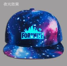 Fornite Luminous Starry blue Baseball Hat Boys Girls Hip Hop Snapback Cap