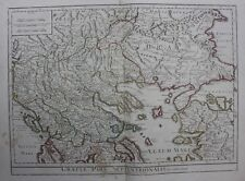 Original antique map NORTHERN ANCIENT GREECE, THRACE, MACEDONIA, Delisle, 1794