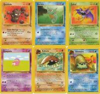 Pokemon Base set common ALL cards Pikachu Squirtle Bulbasaur Charmander CHOOSE