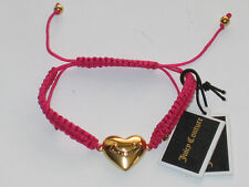 Juicy couture heart friendship rope bracelet pink and gold tone YJRUOBH1