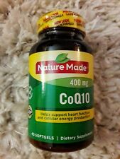 Nature Made CoQ10 400 mg. 40 Softgels. Exp: 02/2021. Brand New Sealed