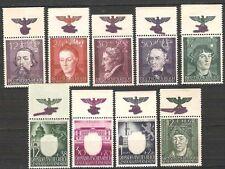 Generalgouvernement Kurzsatz Oberrand mit Hoheitszeichen Mi.Nr. 96 - 109