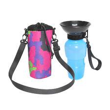 Fashion Dog Water Bottle Pet Sport Travel Walking Squeeze Mug Portable with Bag