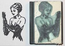 Fetish rubber stamp Woman in Gloves