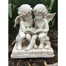 24cm Two Cherubs Reading Book Statue Agnels Garden Ornaments statue statues