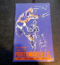 Portsmouth Away Team Football Non-League Fixture Programmes