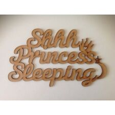 Laser Cut 'Ssh Princess Sleeping'  Sign wooden quote, wooden sign, A230