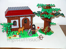 NEW LEGO Castle Village minifigure huntsman bowman fish forest Tree house hut