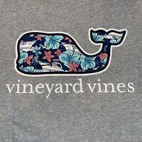 Vineyard Vines Mens Pocket S/S Gray T-Shirt Tropical Boats Whale Fill Sz XL-NEW