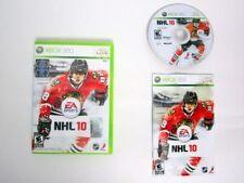 NHL 10 Microsoft Xbox 360 Complete CIB MINT DISC TESTED VERY Fast Ship World