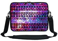 """12"""" Laptop Computer Sleeve Case Bag w Hidden Handle & Shoulder Strap  3102"""