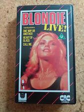 BLONDIE live mit DEBBIE HARRY VHS Cassette