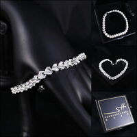 Edles Armband Geschenk Bracelet *Cubic Zirkonia* Silber Swarovski Elements, Etui