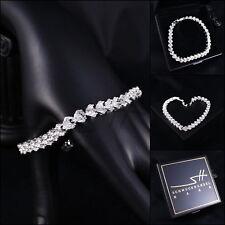 Edles Armband Bracelet *Cubic Zirkonia* Silber Swarovski Elements, Etui original