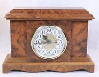Antique Electronic Chime Westminster Quartz Wood Mantel Clock. Japan