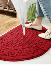 Classic Half Round Door Mat Entrance Entryway Rug Floor Mats Non Slip Indoor