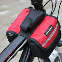 Red Mountain Bike MTB Bicycle Cycling Frame Front Tube Saddle Bag Pouch