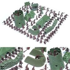 97 Pcs Army Men Toy Soldiers Military Gray Green Plastic Figurine Action Figure