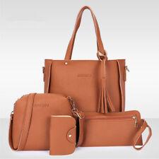 a0e10e6dc0 4 in 1 Women Leather Handbag Lady Shoulder Bags Tote Purse Messenger Pouch  Set