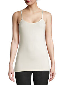 Time and Tru Women's Adjustable Strap Cami (Cream) Size S/CH (4-6)
