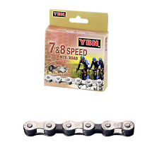 Cadena YABAN 7 8 Velocidades 116 Pasos PLATA MARRON Bicicleta MTB Carretera 3638